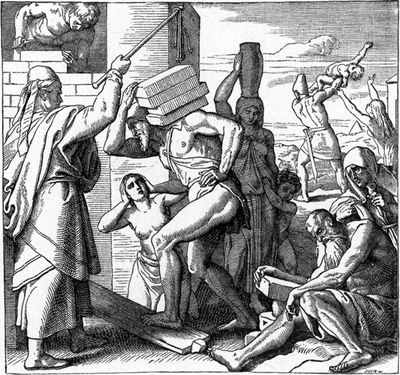 Foster_Bible_Egyptians_Afflicted_the_Israelites